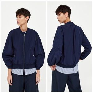 NWT Zara Contrasting Lightweight Jacket - S
